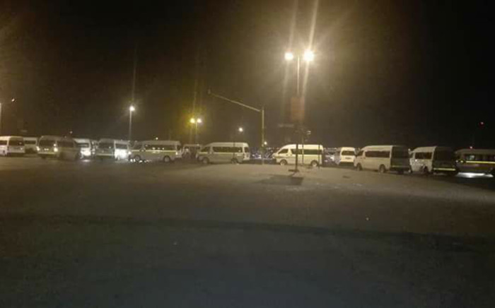 Taxi drivers blocked all major roads in and out of Midrand and some parts of the N1 in their strike about the Toyota Quantum mini-buses being overpriced. Picture: Facebook.
