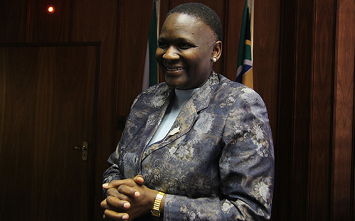 National Police Commissioner General Riah Phiyega in her Pretoria office. Picture: Taurai Maduna/EWN