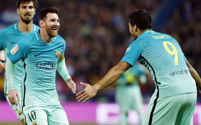 BARCELONA - Luis Suarez and Lionel Messi scored stunning goals for Barcelona in a match against at Atletico Madrid on 1 February 2017. Picture: @FCBarcelona.