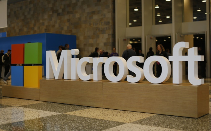 FILE: The Microsoft logo. Picture: AFP