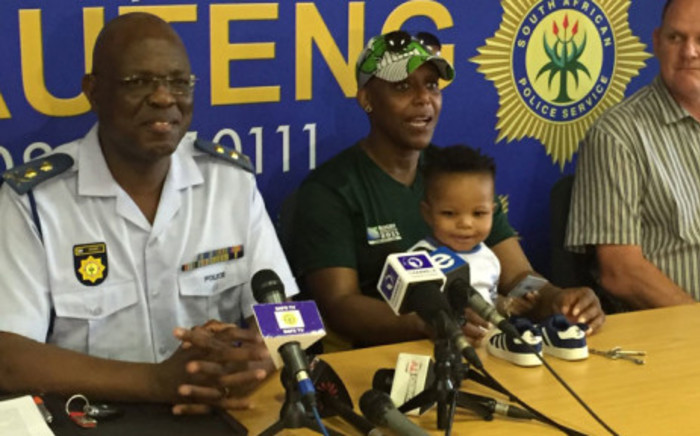 A police briefing on the recovery of 14-month-old Siya Mlambo who was snatched from his family's home in Protea Glen during a robbery. Picture: EWN.