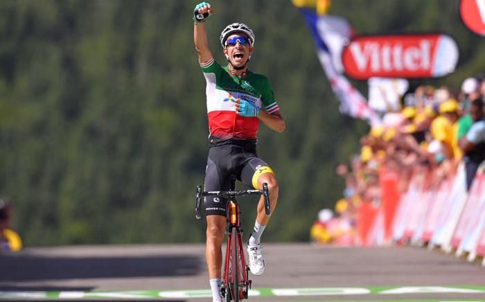 Astana rider Fabio Aru wins the fifth stage of the Tour de France. Picture: @FabioAru1 /Twitter