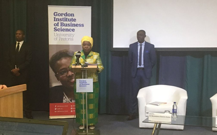 ANC presidential hopeful Nkosazana Dlamini-Zuma was speaking at the Gibs Business School forum on the state of the country and the economy on 29 August 2017. Picture: Thando Kubheka/EWN