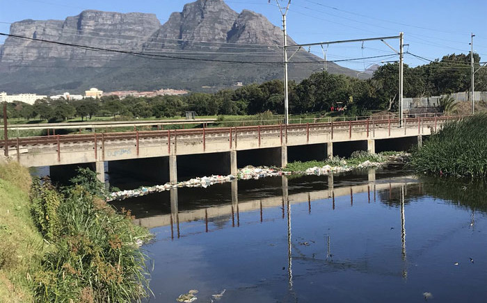 The polluted Black River near Hazendal in Cape Town. Picture: Monique Mortlock/EWN