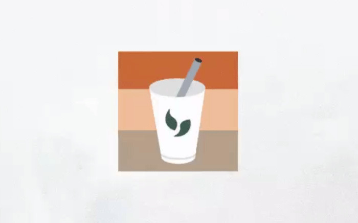 """Twitter has launched an emoji to spotlight the """"#MilkTeaAlliance"""" online protest movement that has forged links between pro-democracy activists across Asia. Picture: Twitter."""