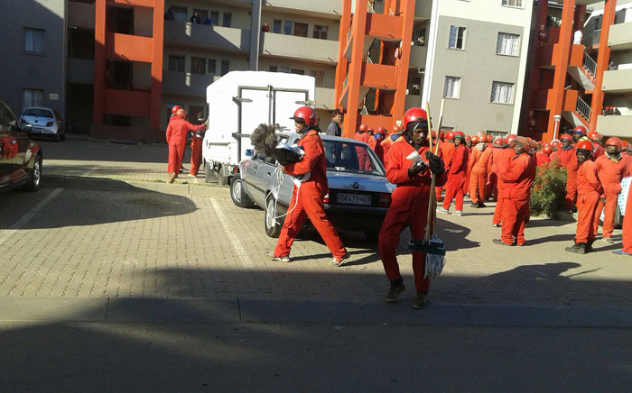 FILE: The Red Ants evict residents from flats in Jabulani, Soweto. Picture: Supplied.
