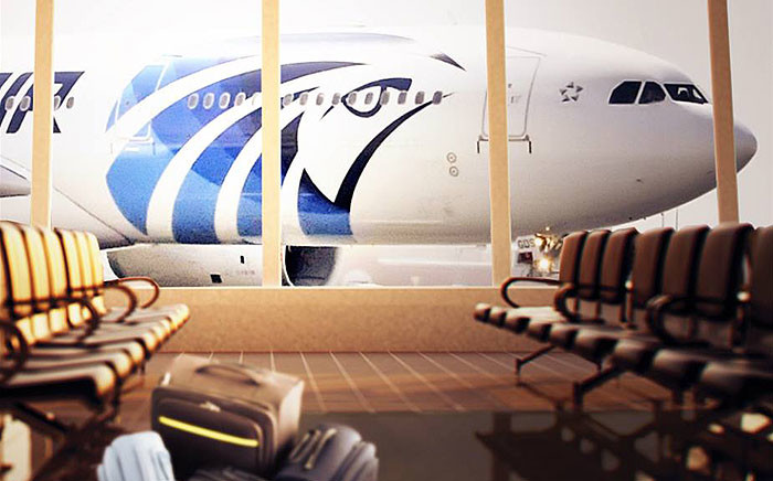 FILE: An EgyptAir flight (generic) Picture: EGYPTAIR/Facebook.