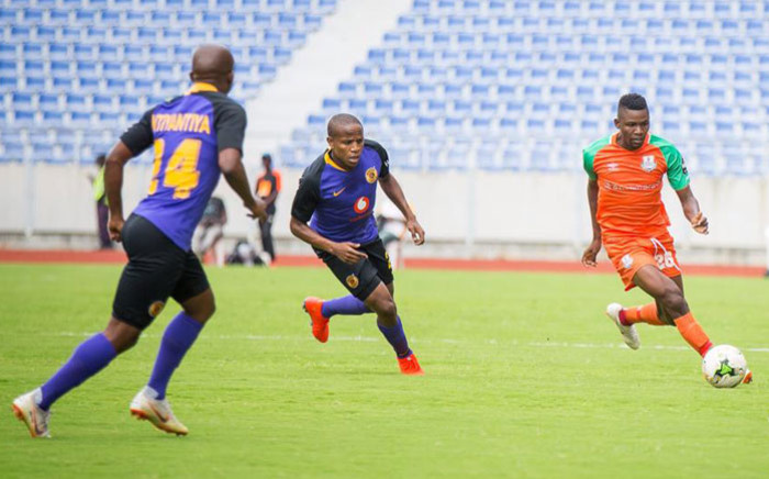Kaizer Chiefs players chase down a Zesco United players during their CAF Confederation Cup play-off on 13 January 2019. Picture: @ZescoUnitedFC/Twitter