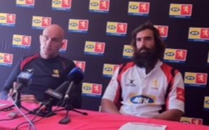 Lions coach John Mitchell and captain Joshua Strauss on 10 August 2011. Picture: Marc Lewis/EWN