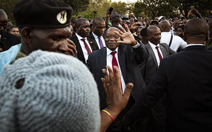 Former President Jacob Zuma outside the Pietermaritzburg High Court on 20 May 2019. Picture: Sethembiso Zulu/EWN