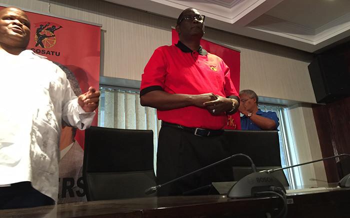 Congress of South African Trade Union (Cosatu) General-Secretary Zwelinzima Vavi during a press conference about his future in the trade union federation 29 March 2015. Picture: Reinart Toerien/EWN.