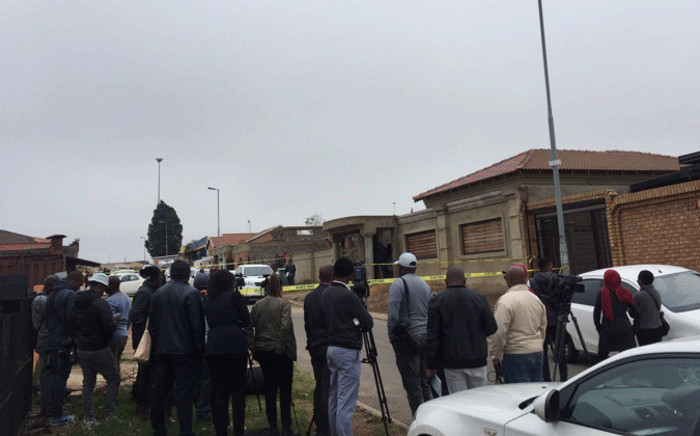 Police raid a Soweto house believed to be drug lab. Picture: Kgomotso Modise/EWN
