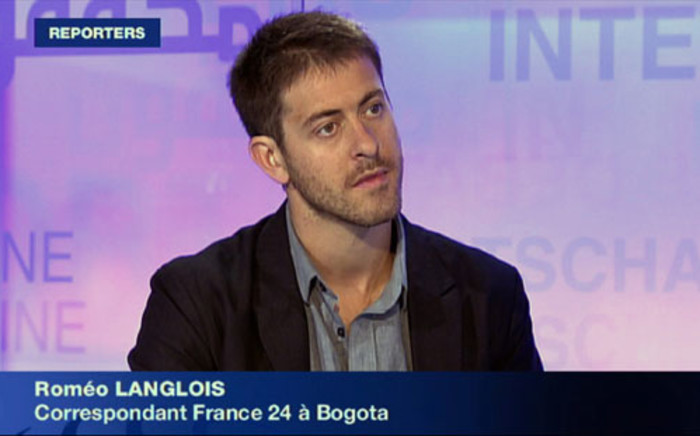 French journalist Romeo Langlois. Picture:AFP/France 24