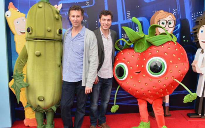 """Screenwriters Johnathan M. Goldstein and John Francis Daley arrive to the premiere of Columbia Pictures and Sony Pictures Animation's """"Cloudy With A Chance of Meatballs 2"""" at the Regency Village Theatre on September 21, 2013 in Westwood, California. Picture: AFP"""