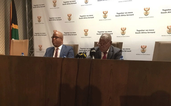 Transport Minister Blade Nzimande announcing a revised taxi recapitalisation programme on 26 April 2019. Picture: GCIS.
