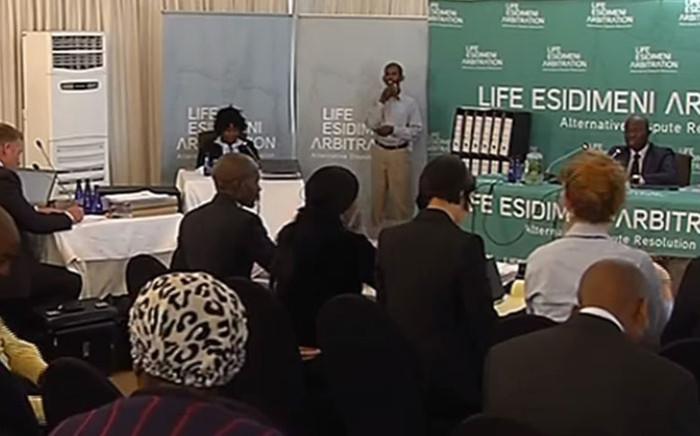 A screengrab of Dikeledi Manaka giving evidence at the Esidimeni arbitration hearing in Johannesburg on 15 November 2017.