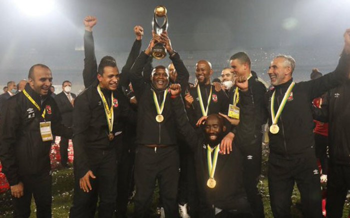Success for Al Ahly meant South African Pitso Mosimane became the third coach after Oscar Fullone & Mahmoud el Gohary to win the Champions League title with 2 clubs. Picture: Twitter @AlAhly.