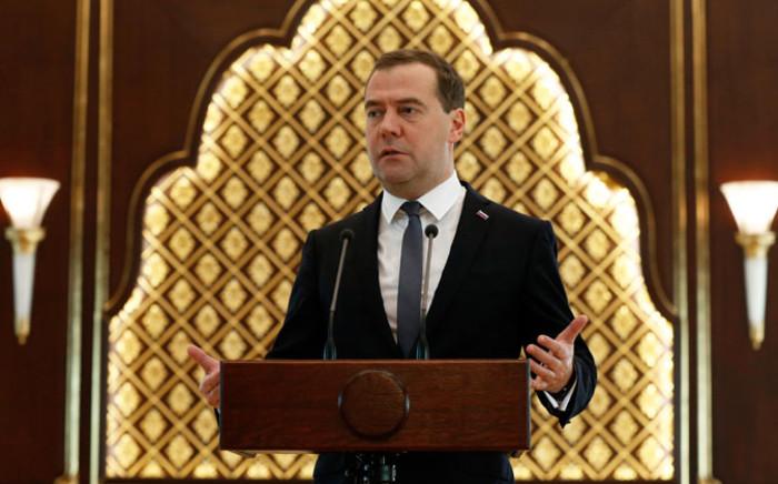 Russian Prime Minister Dmitry Medvedev. Picture: EPA.