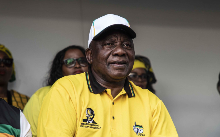President Cyril Ramaphosa in Tembisa on the ANC election campaign trail. Picture: Abigail Javier/EWN
