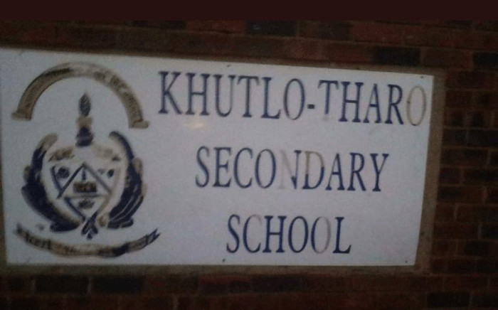 Khutlo Tharo Secondary School in Sebokeng was on fire on 15 January 2020. Picture: Supplied.