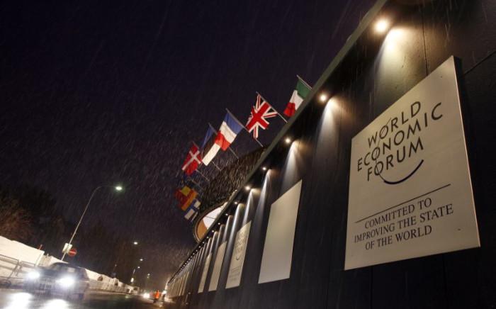 Outside the World Economic Forum