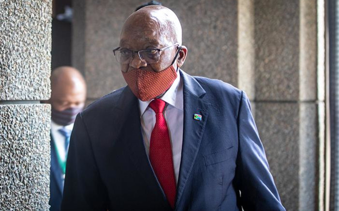 FILE: Former President Jacob Zuma at the inquiry into state capture on 17 November 2020. Picture: Xanderleigh Dookey/EWN
