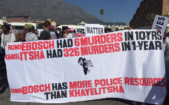 FILE: The Social Justice Coalition led Khayelitsha residents in a protest march. Picture: Xolani Koyana/EWN.