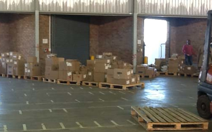 Only a few books left in the warehouse. Picture: Andrea van Wyk/EWN.