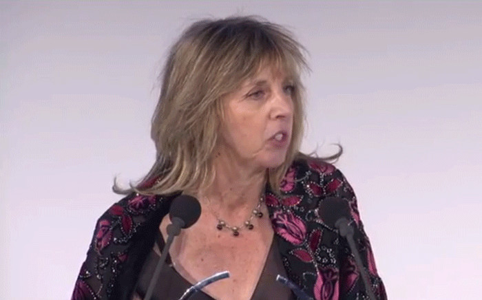 A screengrab shows professor Heather Zar during the L'Oréal-Unesco for Women in Science Awards. Picture: Facebook.com