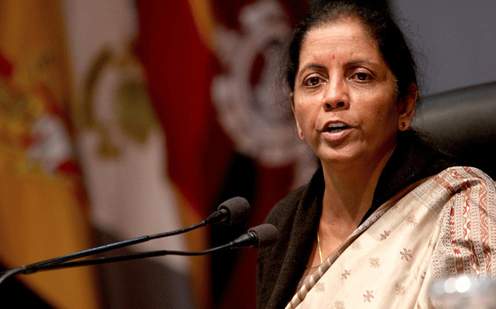 Indian defence minister Nirmala Sitharaman briefs media about militant attack at Sunjwan Army camp in Jammu on 12 February 2018. Picture: AFP