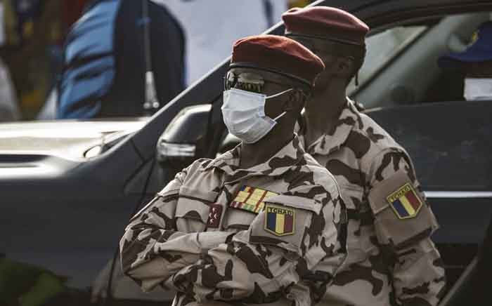 In this file photo taken on 9 April 2021, four star general and head of the Republican Guard in Chad, Mahamat Idriss Déby Itno, son of Chadian President Idriss Deby Itno, is seen in N'djamena, during the closing rally of the 2021 presidential campaign. Picture: MARCO LONGARI/AFP