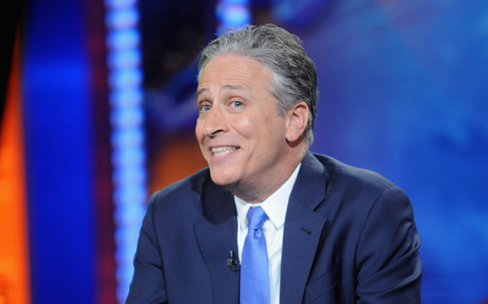 """Jon Stewart hosts """"The Daily Show with Jon Stewart"""" #JonVoyage on 6 August, 2015 in New York City. Picture: AFP."""