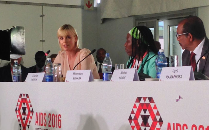 FILE: Charlize Theron is a United Nations Messenger of Peace. Picture: Twitter - @AIDS_conference.