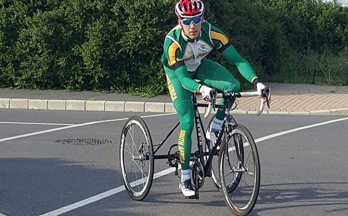 Cyclist Goldy Fuchs. Picture: Facebook.