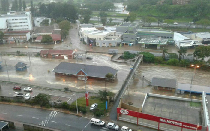 The impact of the storm in KZN on 10 October 2017.  Picture: Twitter/@ZaazyZuma.