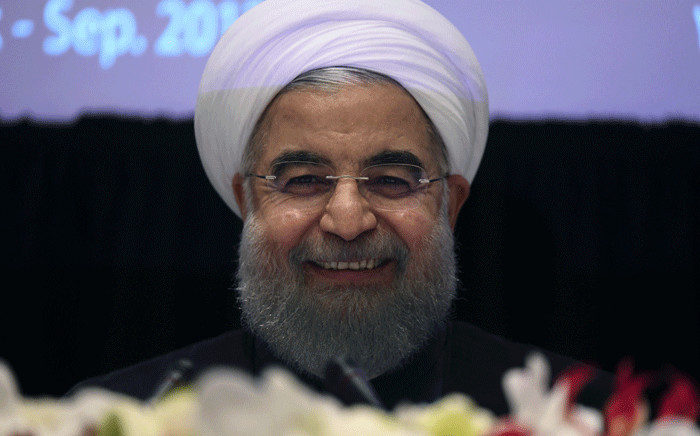 FILE: Iran's President Hassan Rouhani smiles during a press conference in New York on 20 September 2017, on the sideline of the 72nd Session of the United Nations General Assembly. Picture: AFP.