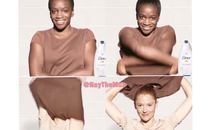 An image from Dove's advert which caused a stir on social media. Picture: Twitter