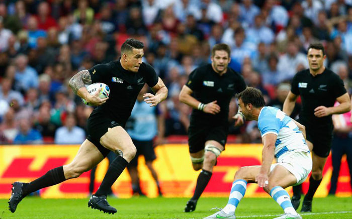 The all black All Black team taking on the Pumas in the 2015 Rugby World Cup tournament. Picture: RugbyWorldCup.com