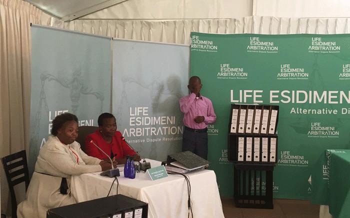 Family members of the Life Esidimeni tragedy victims testify during arbitration hearings on 16 November 2017. Picture: Thando Kubheka/EWN.