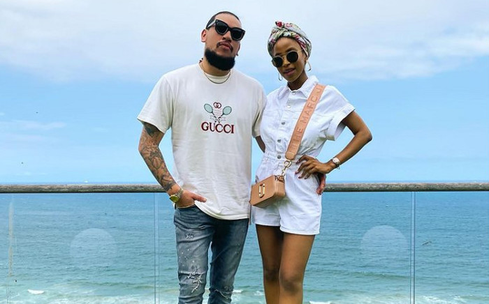 Kiernan AKA Forbes (left) with his late fiance Nellie Tembe (right). Picture: @AKAworldwide/Instagram.