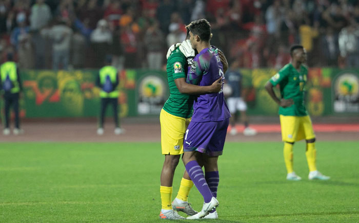 South African players react after their Under-23 Afcon semifinal match against Egypt at the Cairo Stadium on 19 November 2019. Picture: @CAF_Online/Twitter