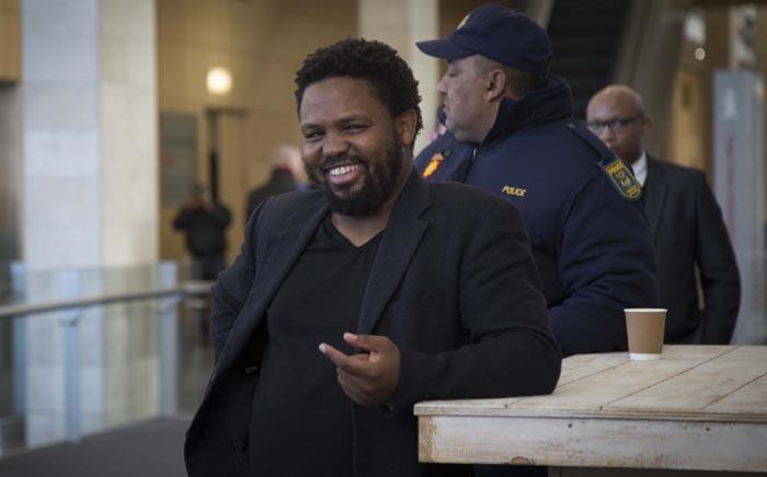 BLF Leader Andile Mngxitama outside The Gathering: Media Edition at the Cape Town International Convention Centre on 3 August 2017. Picture: Cindy Archillies/EWN