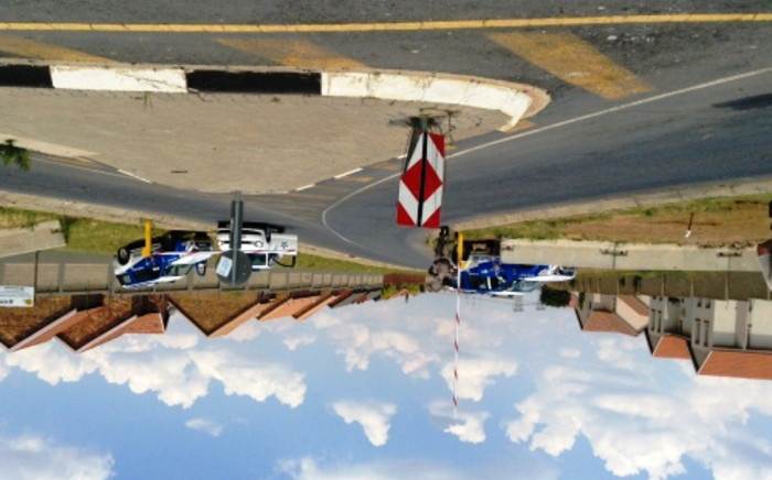A road leading to Sanral's Central Command Centre in Samrand, Midrand, is closed after a second evacuation on 24 January 2014. Picture: Christa Van der Walt/EWN.