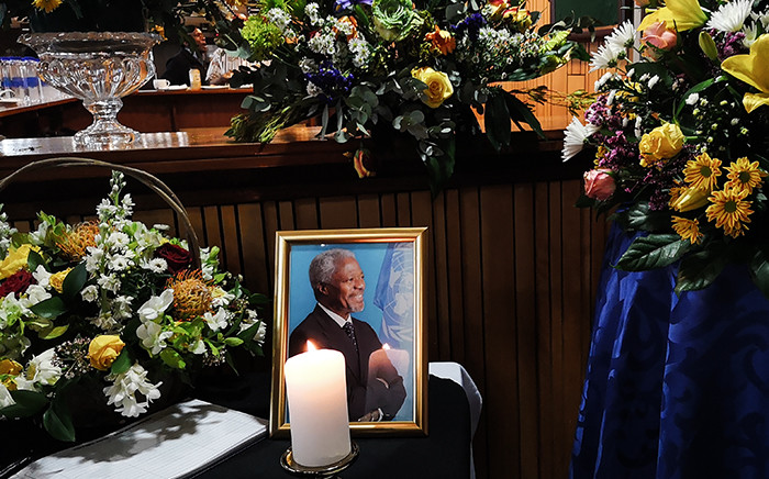 A portrait of former UN secretary-general Kofi Annan at his memorial in Pretoria. Picture: Kayleen Morgan/EWN