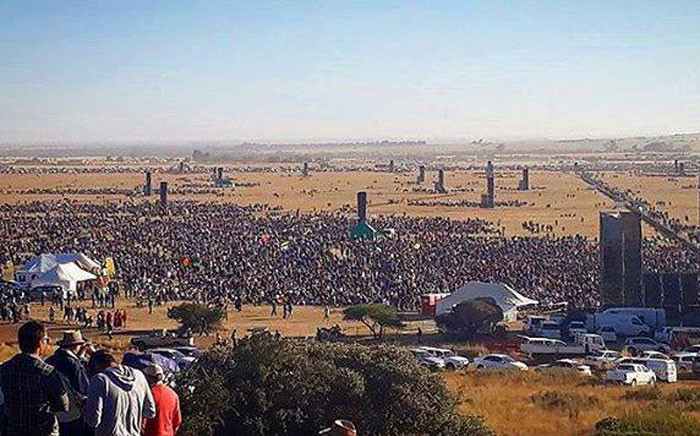 Crowds gathered for a prayer meeting in Bloemfontein to pray for the country on Saturday, 22 April 2017. Picture: facebook.com