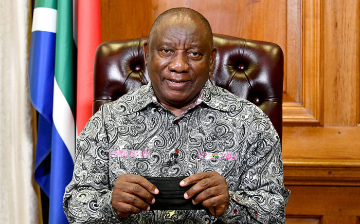 President Cyril Ramaphosa addresses the nation on 12 September 2021. Picture: GCIS.