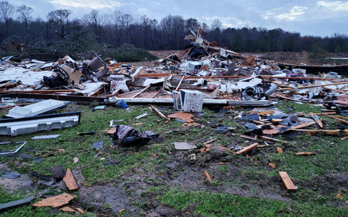 This handout image obtained courtesy of Bossier Parish, Louisiana, Sheriff's Office shows the aftermath of a powerful storm on 11 January 2020. Picture: AFP