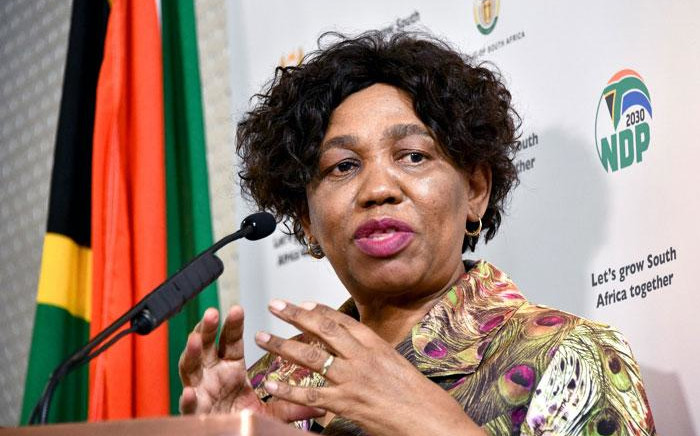 FILE: Basic Education Minister Angie Motshekga at a briefing on 19 May 2020 in Pretoria explains the department's plans to reopen schools amid the coronavirus pandemic. Picture: GCIS