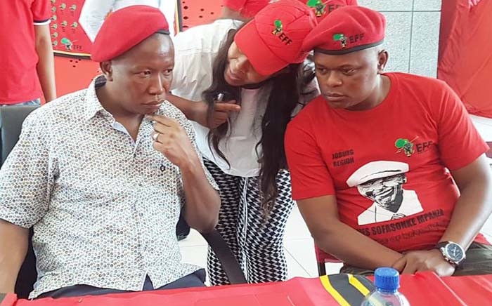 EFF leader Julius Malema (L) and the party's Johannesburg mayoral candidate Musa Novela (R). Picture: Musa Novela/Twitter