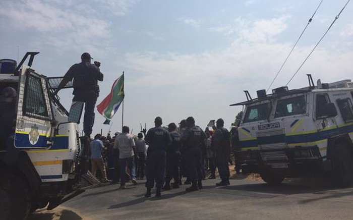 The scene of a protest in Kya Sand after tensions flared on 12 October 2015. Picture: Ziyanda Ngcobo/EWN.
